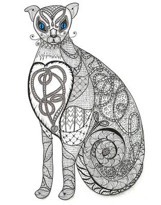 Observer Drawing - Royal Muse Blue by Melinda DeMent