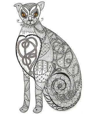 Observer Drawing - Royal Muse Gold by Melinda DeMent