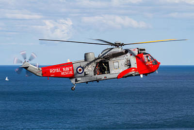 Photograph - Royal Navy Sea King Rescue Helicopter by Ken Brannen