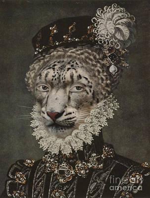 Royal Noble Gepard Human Body Animal Head Portrait Original