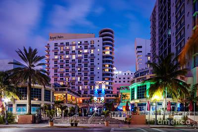 Royal Pam Hotel Ocean Drive South Beach - Miami Beach Florida Art Print by Silvio Ligutti