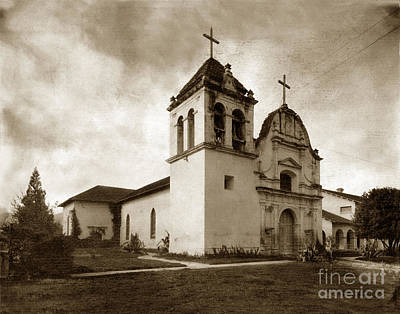 Photograph - Royal Presidio Chapel Monterey California Circa 1920 by California Views Archives Mr Pat Hathaway Archives