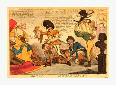 Pole Drawing - Royal Recreation, Cruikshank, Isaac, 1756-1811, Engraving by Litz Collection