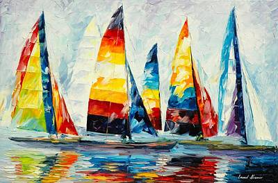 Abstract Realism Painting - Royal Regatta by Leonid Afremov