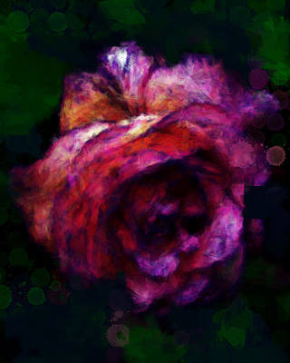 Royal Rose Painted Art Print