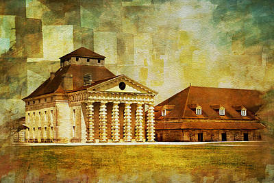 Chartre Painting - Royal Saltworks At Arc-et-senans by Catf