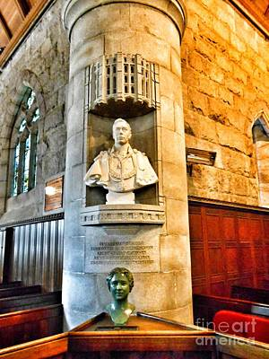 Photograph - Royal Sculptures At Crathie Church by Joan-Violet Stretch