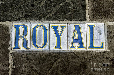 Photograph - Royal St Tiles - Nola by Kathleen K Parker