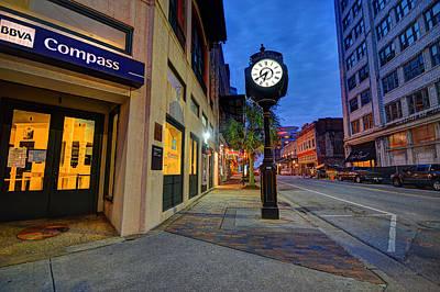 Digital Art - Royal Street Clock by Michael Thomas