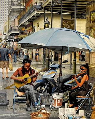 Painting - Royal Street Duet by Robert W Cook