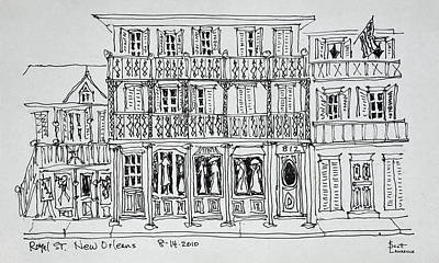 Pen And Ink Drawing Photograph - Royal Street, French Quarter, New by Richard Lawrence
