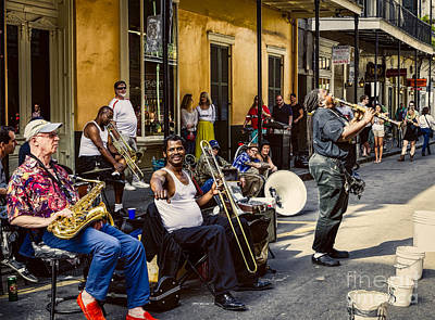 Musicians Royalty Free Images - Royal Street Jazz Musicians Royalty-Free Image by Kathleen K Parker