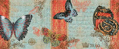 Royal Tapestry Butterfly-a2 Original by Jean Plout