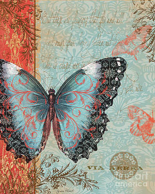 Royal Tapestry Butterfly-b2 Original by Jean Plout