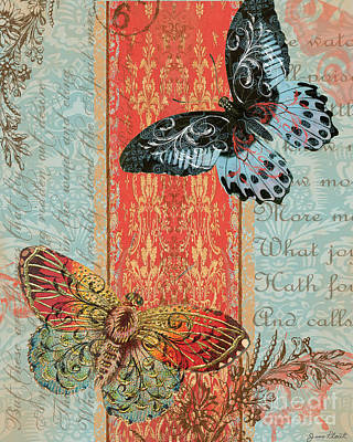 Royal Tapestry Butterfly-c2 Original by Jean Plout