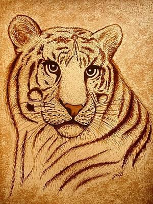 Royal Tiger Coffee Painting Original