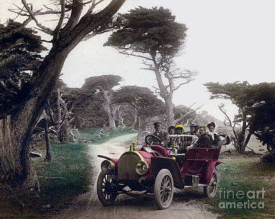 Photograph - Royal Tourist Touring Car Model G3 Pebble Beach Calif. Circa 1908 by California Views Mr Pat Hathaway Archives