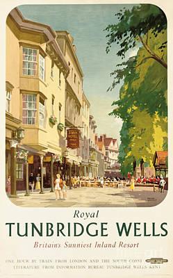 Royal Tunbridge Wells Poster Advertising British Railways Art Print by Frank Sherwin