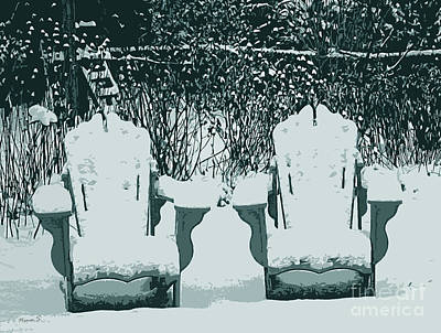 Photograph - Royal Winter Chairs by Nina Silver