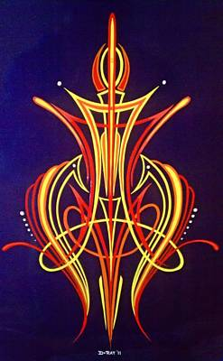 Pinstripes Painting - Royalty by Danny Apodaca