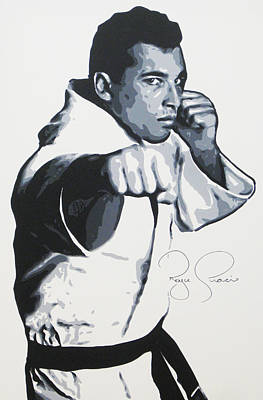 Painting - Royce Gracie by Geo Thomson