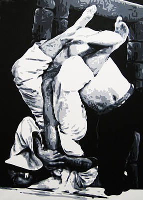 Painting - Royce Gracie V by Geo Thomson