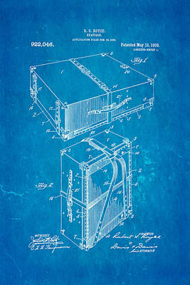 Royce Knapsack Patent Art 1909 Blueprint Art Print