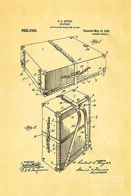 Royce Knapsack Patent Art 1909 Art Print