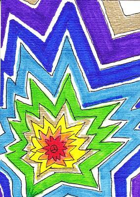 Chakra Rainbow Drawing - Roygbiv Redux by Michele Coe