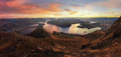 New Zealand Photograph - Roy's Peak - Panorama View by Yan Zhang