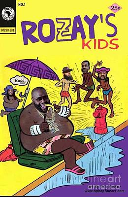 Maybach Music Digital Art - Rozay's Kids by Isis Kenney