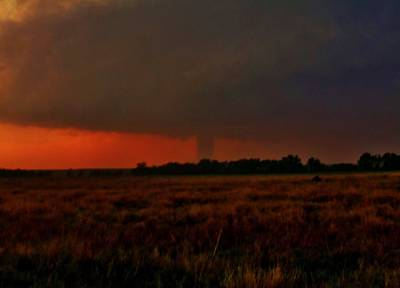 Photograph - Rozel Tornado On The Horizon by Ed Sweeney