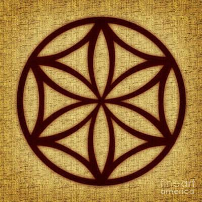 Digital Art - Rozeta Solar Symbol Flower Of Life by Olga Hamilton