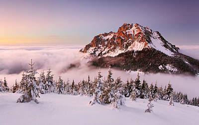 Cloudy Photograph - Rozsutec Peak by Tomas Sereda