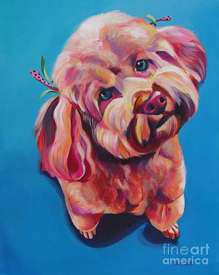 Painting - Rozzie In Pink by Adele Castillo