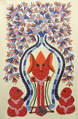 Jangarh Singh Shyam Painting - Rsu 61 by Ram Singh Urveti