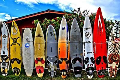 Surfboard Fence Photograph - Rt 37 Board Meeting by DJ Florek