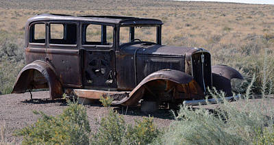 Art Print featuring the photograph Rt 66 And Nowhere To Go by Debby Pueschel