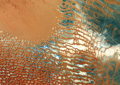 Satellite Image Photograph - Rub Al Khali Desert Saudi Arabia by Anonymous