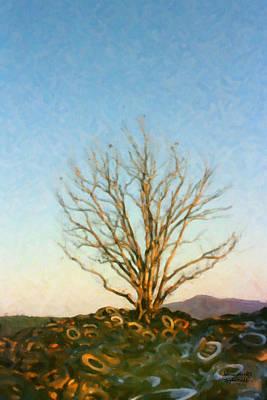 Art Print featuring the digital art Rubber Tree by Spyder Webb