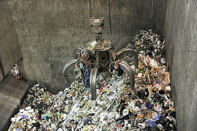 Rubbish At Refuse Facility Art Print