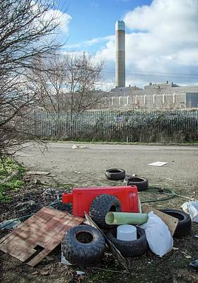 Blight Photograph - Rubbish Dumped Near Power Station by Robert Brook