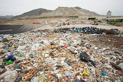 Waste Photograph - Rubbish On A Landfill Site by Ashley Cooper