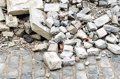 Rubble Photograph - Rubble by Tom Gowanlock