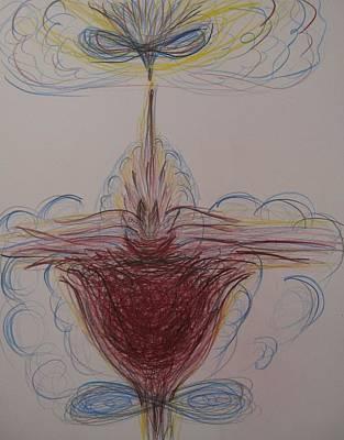 Rubedo Drawing - Rubedo by Elena Soldatkina