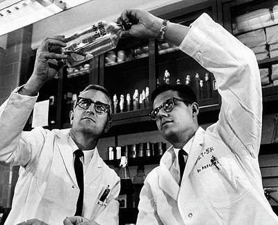 Medicine Man Photograph - Rubella Vaccine Research by National Library Of Medicine