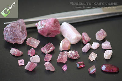Digital Art - Rubellite Tourmaline by Justin Hiatt