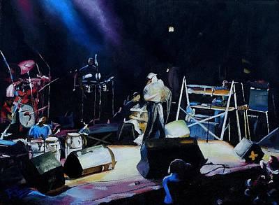 Painting - Ruben Blades Y Seis Del Solar  by Raymond Perez