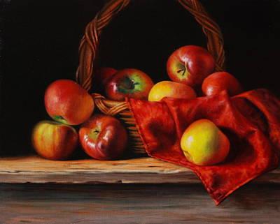Petrov Painting - Rubens Apples by Dan Petrov