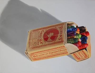 Cradle Board Painting - Rubens Crayola No. 18 By K Henderson by K Henderson